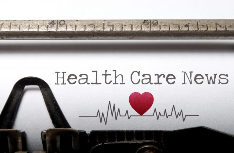 Image of paper stating Health Care News
